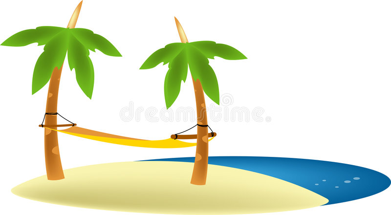 Download BEACH HAMMOCK Royalty Free Stock Image - Image: 1289996