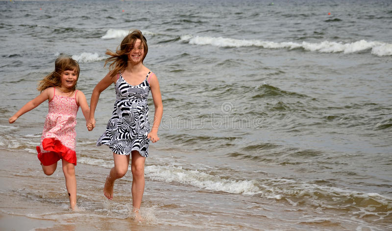 Download Beach happy runners stock image. Image of beach, fast - 21343419