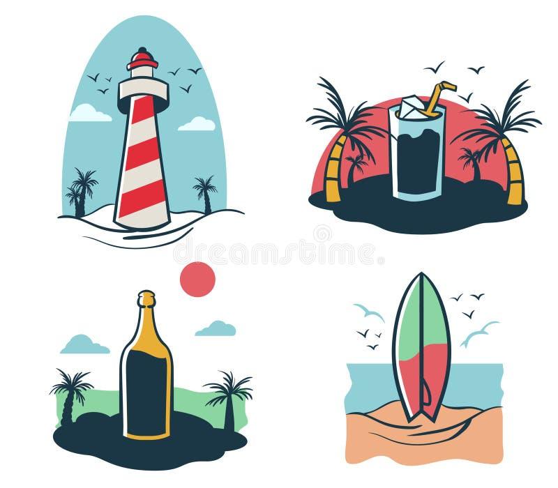 Beach Holiday Mini Illustration vector illustration