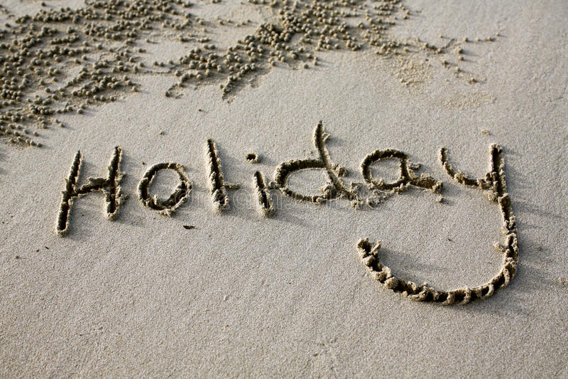 Beach Holiday Sign royalty free stock photo