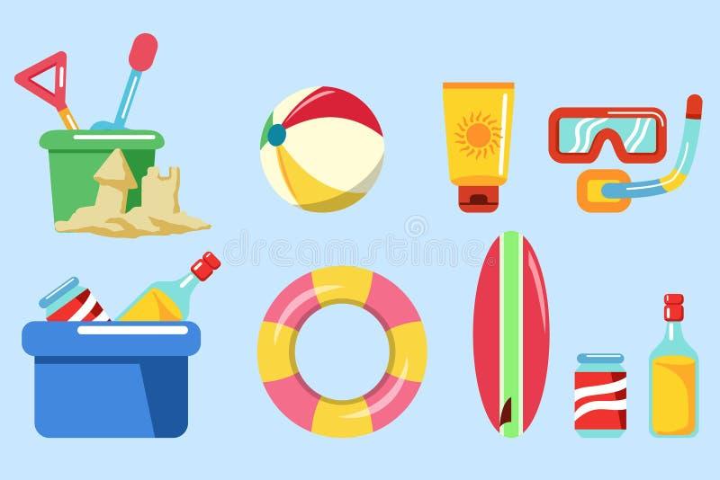 Beach Holiday Stuff Graphic vector illustration