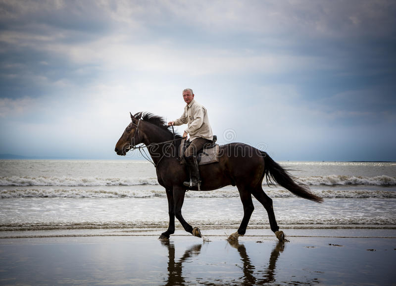 Download Beach Horse Rider Silhouette Stock Photo - Image: 25551844