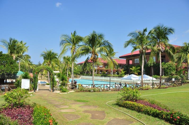 Beach Hotel Resort Garden stock photos