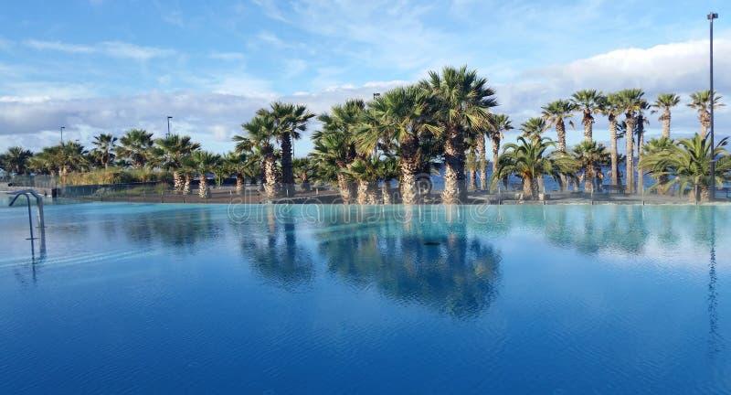 Hotel paradisiac resort stock photos