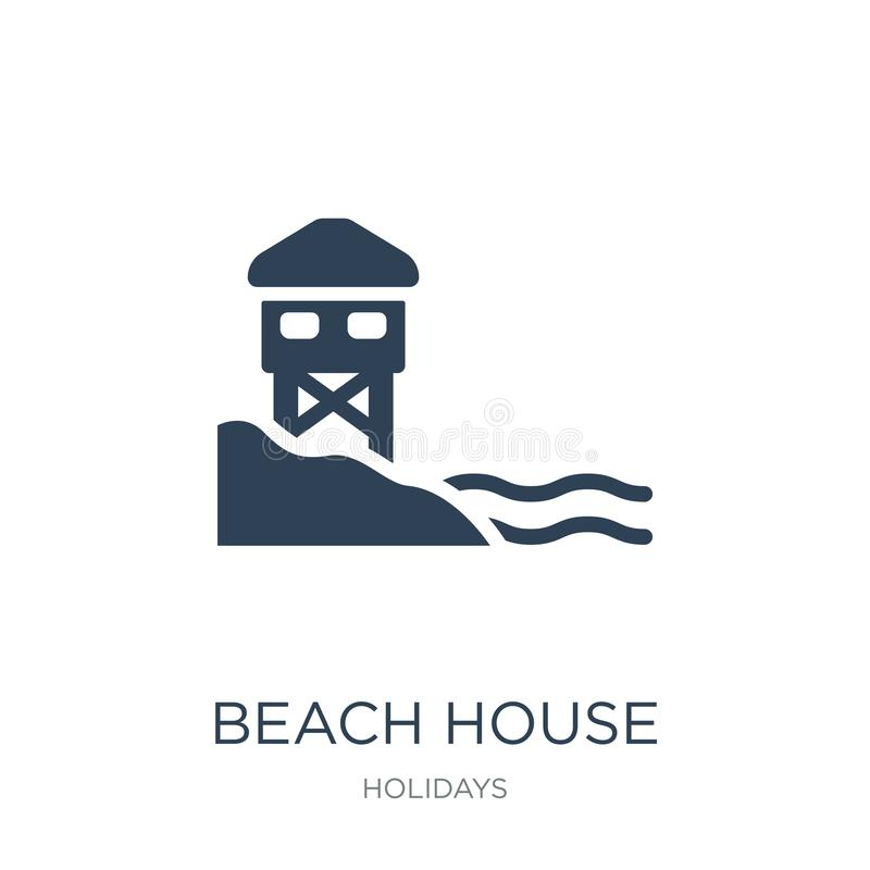 beach house icon in trendy design style. beach house icon isolated on white background. beach house vector icon simple and modern vector illustration