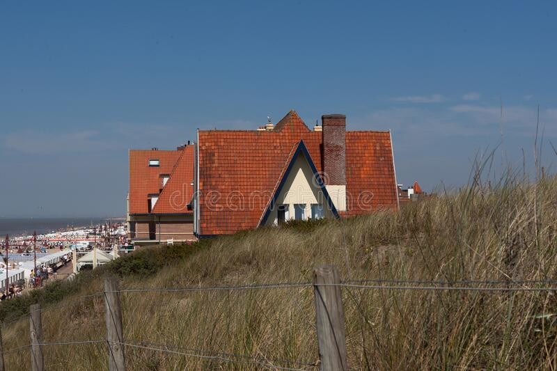 House dunes North Sea, Blankenberge, Belgium stock photos