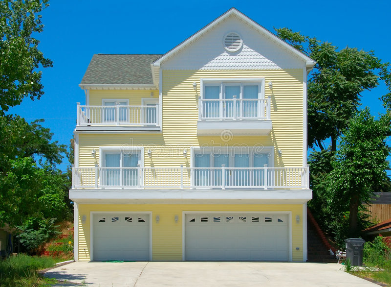 Beach House in Summer royalty free stock images