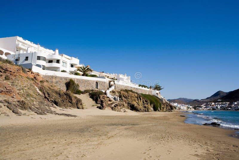 Download Beach houses stock photo. Image of rocks, almeria, town - 4194940