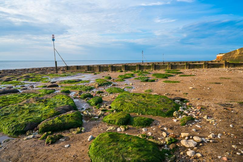 Beach in Hunstanton, Norfolk, UK royalty free stock photo