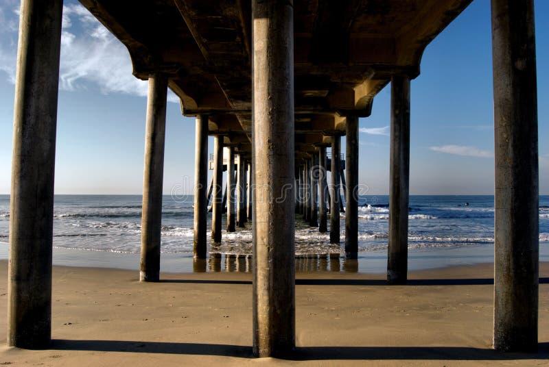 beach huntington pier royaltyfri fotografi