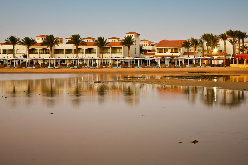 Beach in Hurghada, Egypt royalty free stock image