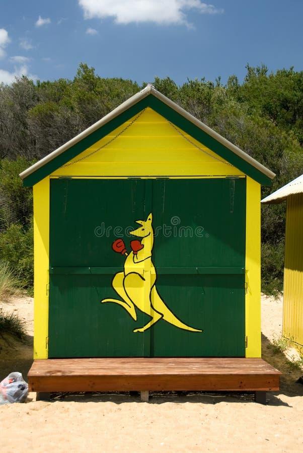 Beach Hut. A Beach Hut on Brighton Beach, Melbourne, Victoria, Australia stock photo