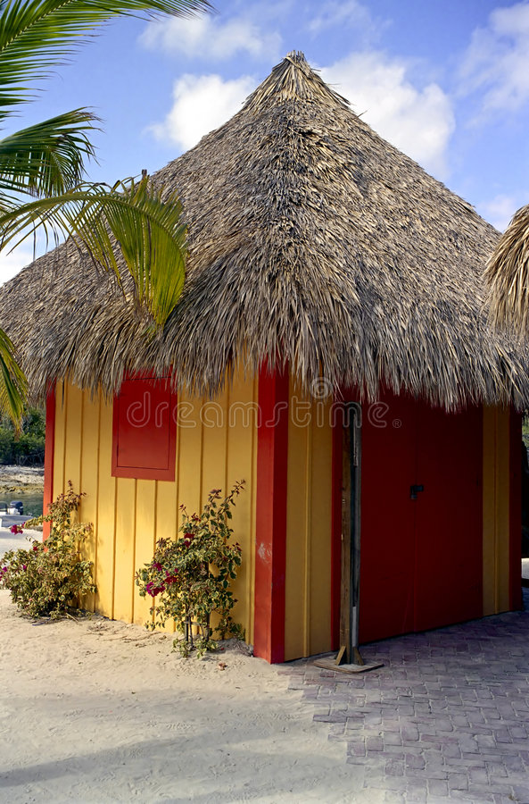 Download Beach Hut at Coco Cay stock image. Image of tourism, tropical - 1948871