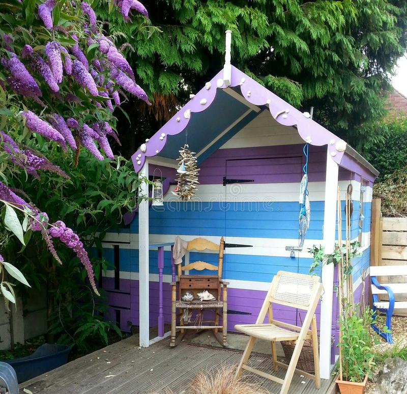 Beach Hut Garden Shed royalty free stock images