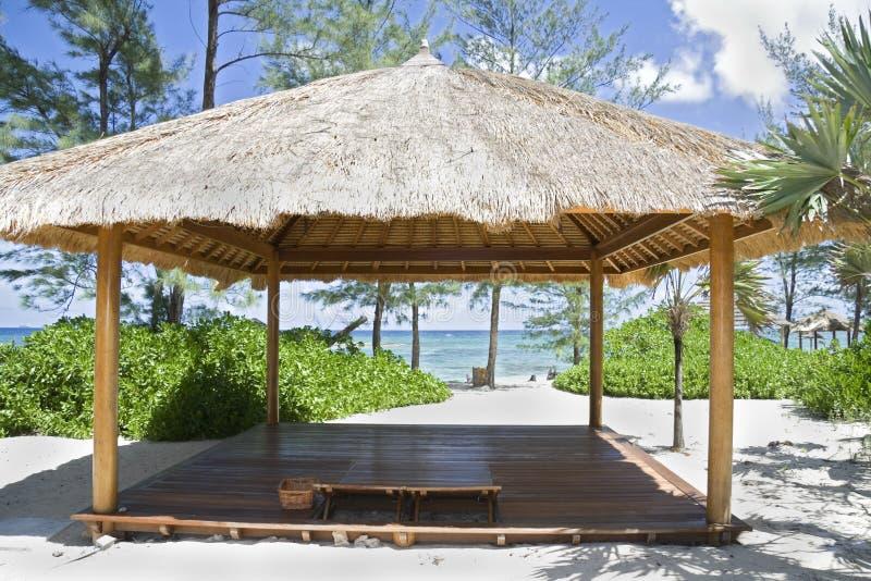 Beach Hut On Tropical Island Stock Photos