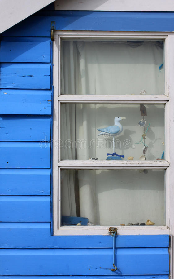 Beach Hut Window Royalty Free Stock Photography