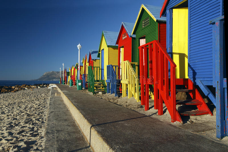 Download Beach Huts stock image. Image of false, vibrant, beach - 28819399