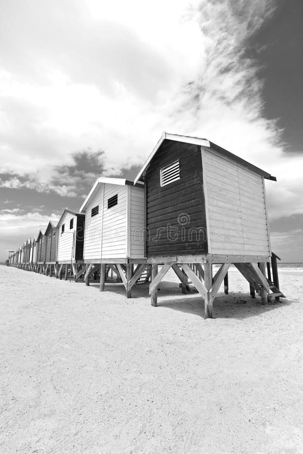 Beach huts in Cape Town royalty free stock photos