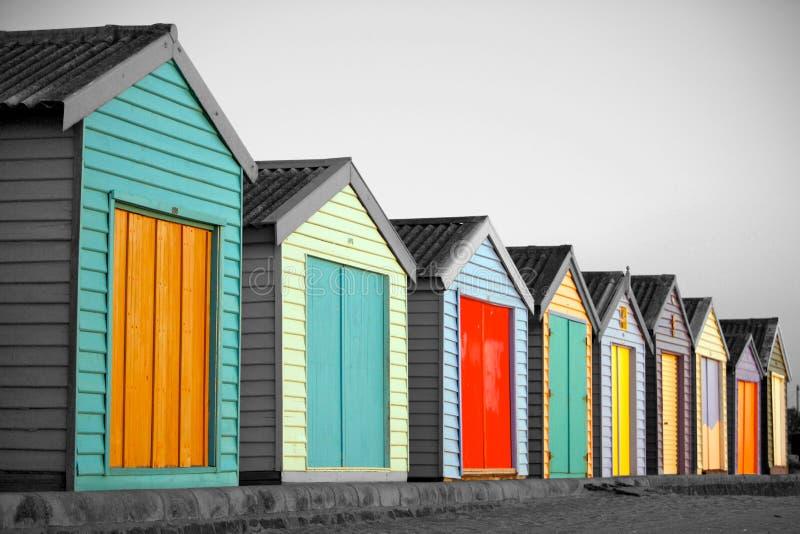 Beach huts in Melbourne, Australia stock photo