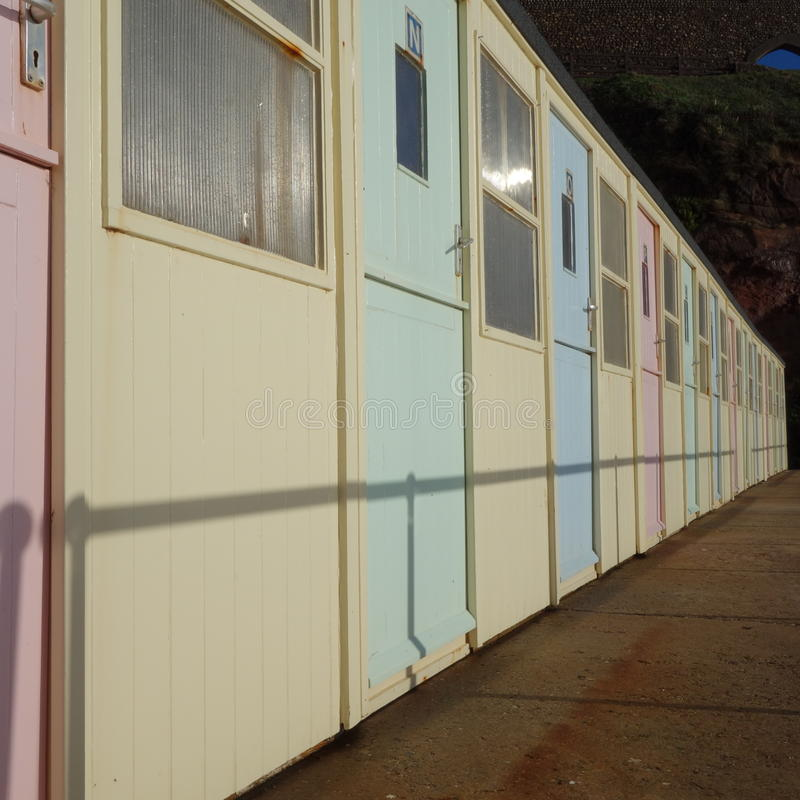 Download Beach Huts stock photo. Image of pale, sidmouth, yellow - 36578562