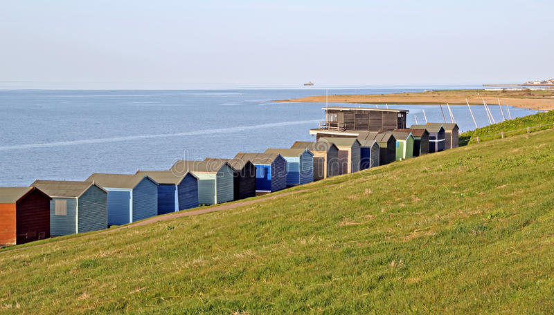 Beach Huts And Sailing Club Stock Photography