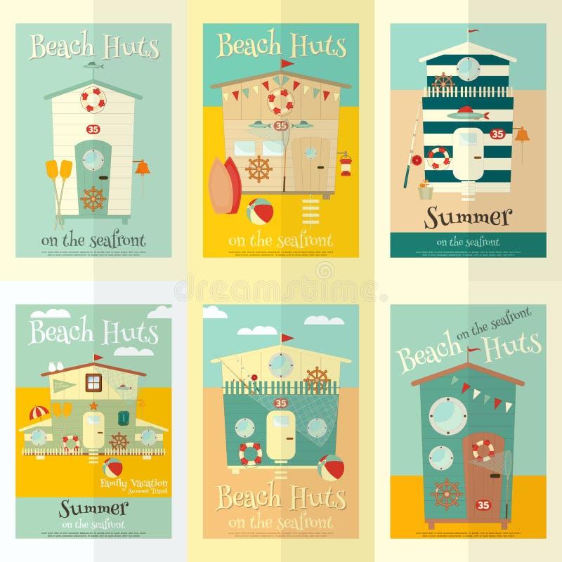 Beach Huts vector illustration