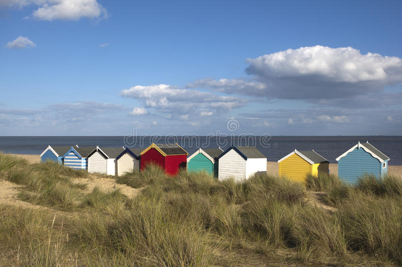 Beach Huts, Southwold, Suffolk, England royalty free stock images