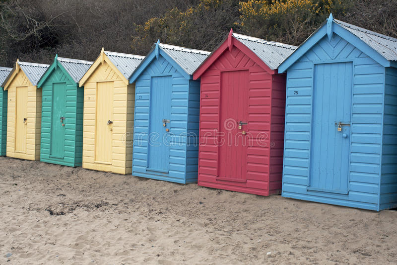 Beach Huts, Wales Stock Photo