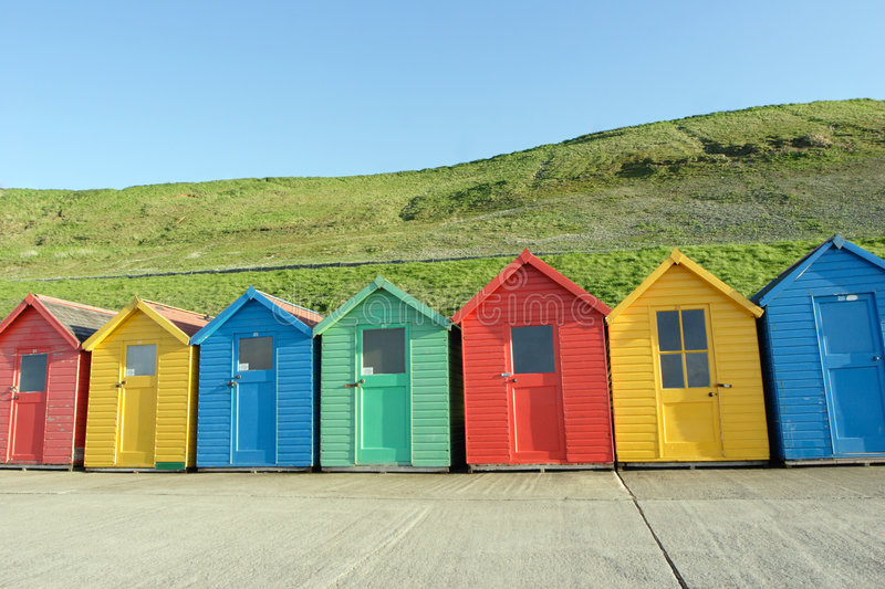 Download Beach Huts, Whitby, UK Royalty Free Stock Photos - Image: 822258