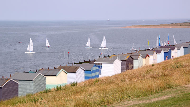 Download Beach huts and yachts editorial stock image. Image of seaside - 32276984