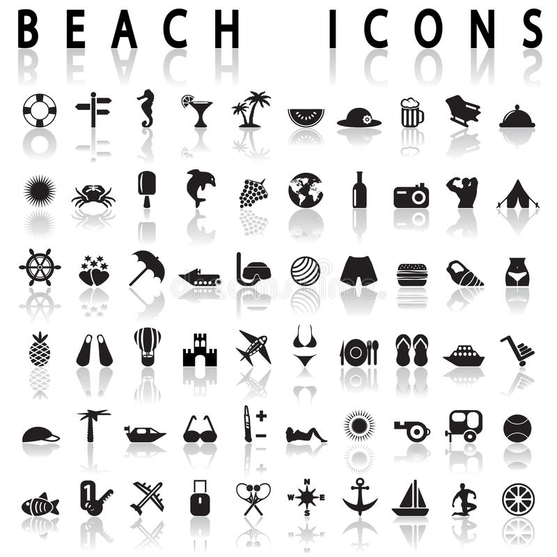 Free Beach Icons Stock Photos - 46725963
