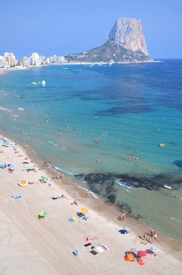 Free Beach In Calpe, Spain Royalty Free Stock Photos - 26471138