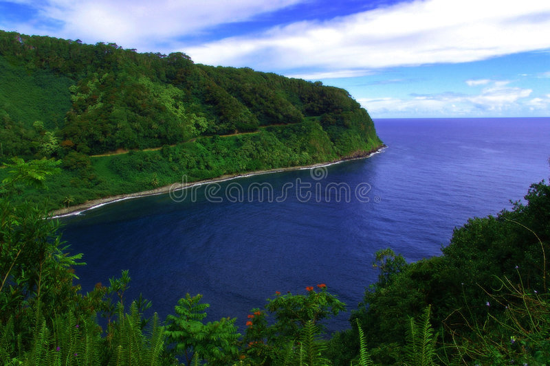 Download A beach inside a bay stock photo. Image of cloud, land - 184434