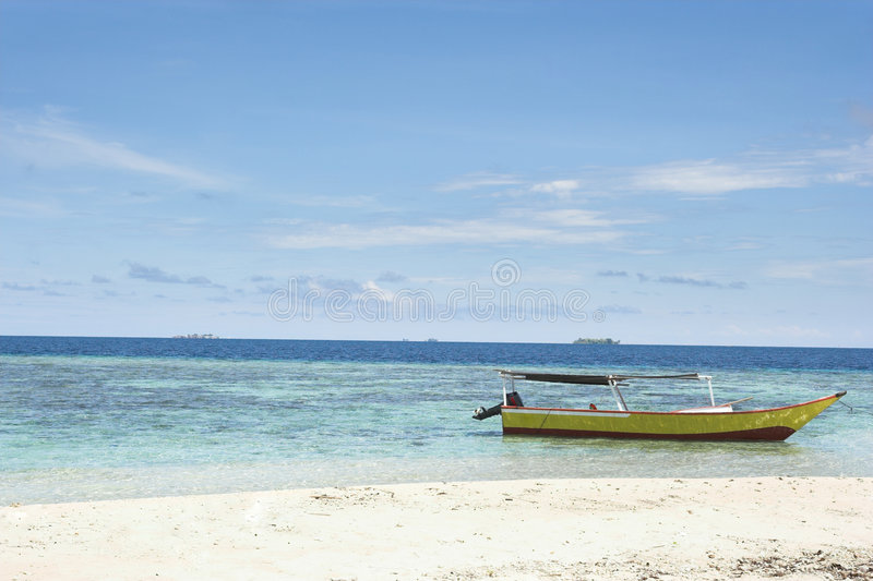 Download Beach inside of the island stock image. Image of quiet - 7038919
