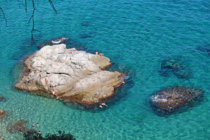Beach Island Costa Brava royalty free stock photo