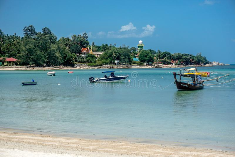 Beach on the island of Koh Samui stock images