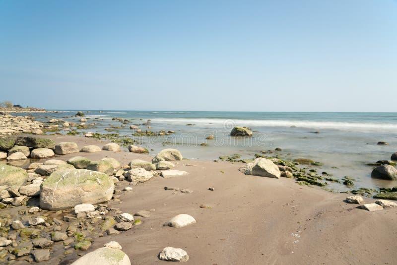 Beach on the island Oland, Sweden stock image