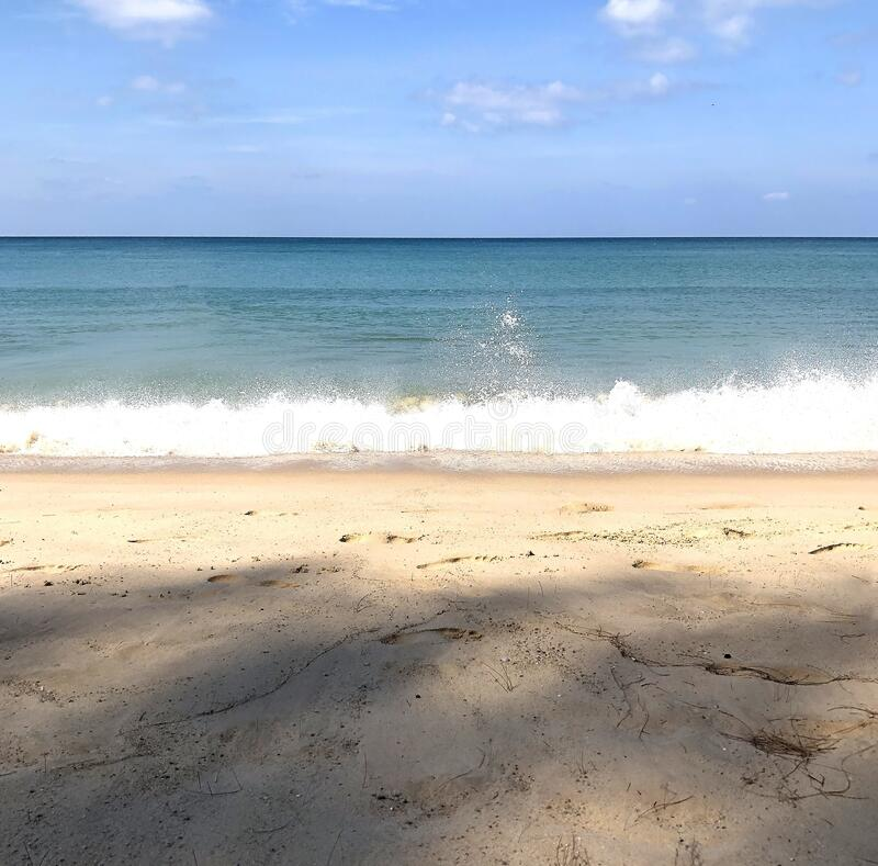 Beach on the island of Phuket in Thailand.  royalty free stock photography