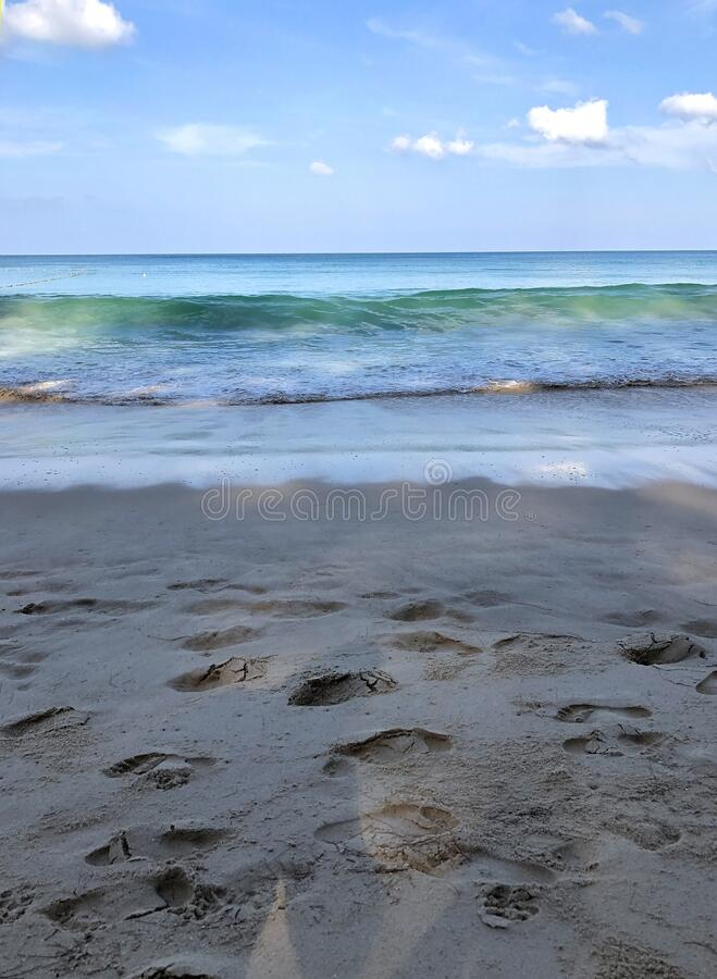 Beach on the island of Phuket in Thailand.  stock photography