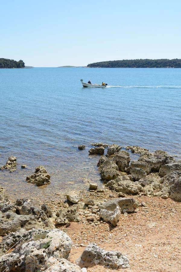 Beach in Istria near Medulin, Croatia. Medulin in Istria peninsula, Croatia royalty free stock photos