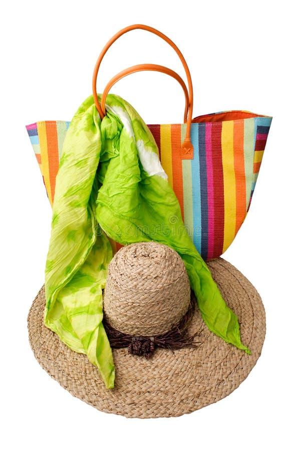 Beach items stock photo