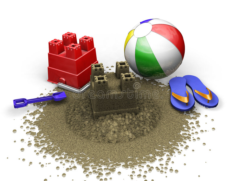 Download Beach items stock illustration. Image of sandcastle, holiday - 2691111