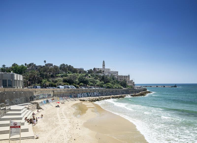 Beach in jaffa yafo old town of tel aviv israel royalty free stock image