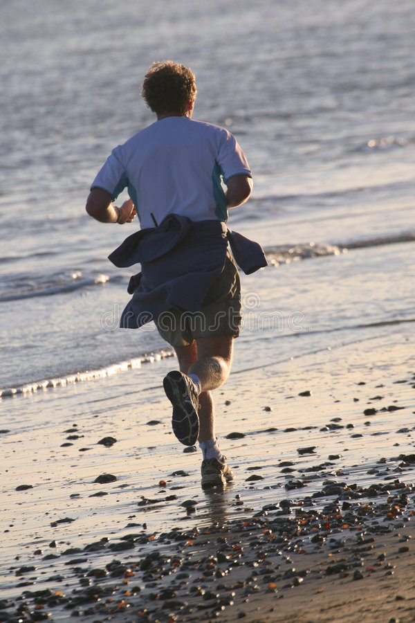 Download Beach Jogger stock photo. Image of health, sweat, runner - 1932472