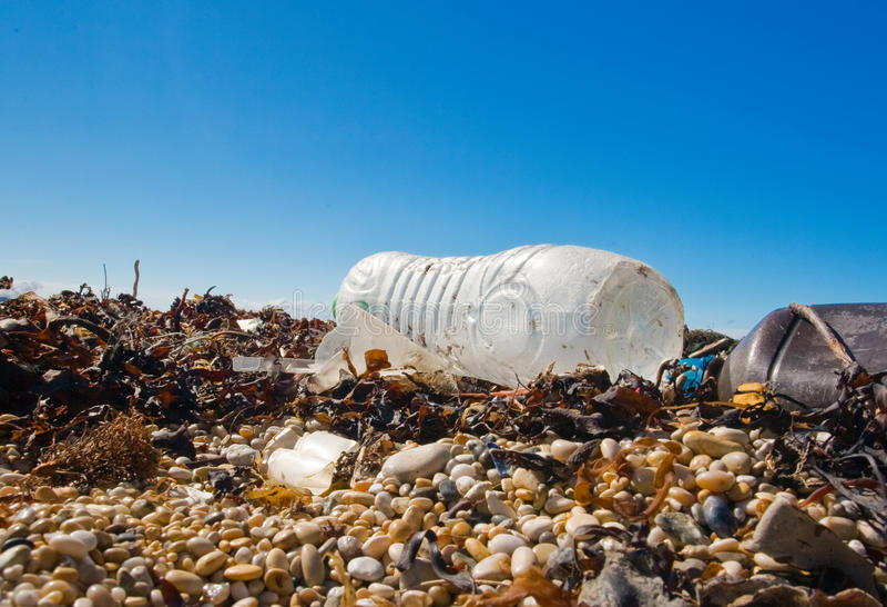 Beach junk royalty free stock photography