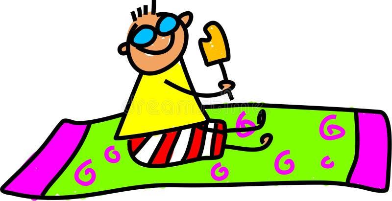 Beach kid stock illustration