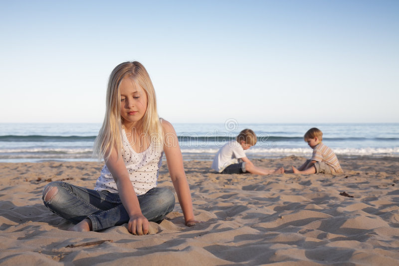 Beach kids. royalty free stock photography