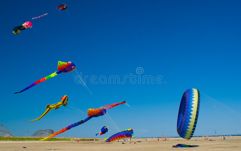 Download Beach Kite Festival stock photo. Image of string, people - 5413904