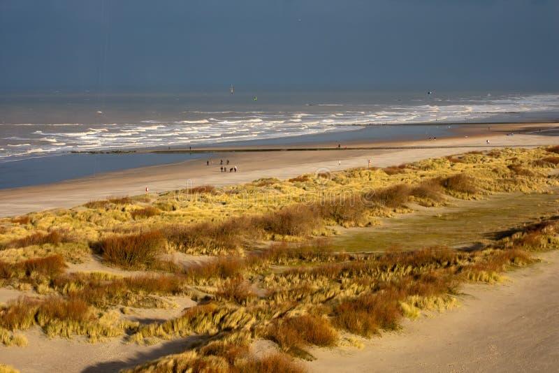 Beach in Knokke, Belgium. View to the beach in Knokke, Belgium stock image