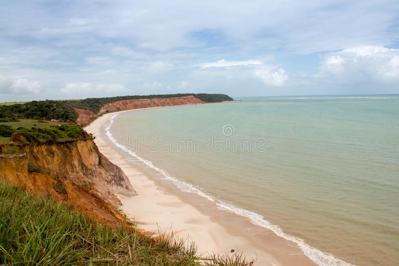 Beach Know as Paria do Carro Quebrado in Alagoas Brazil royalty free stock photo